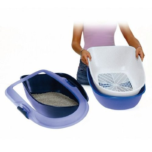 trixie-barto-40152-cat-litter-tray-39-x-22-x-59-cm-light-blue-dark-blue-granite
