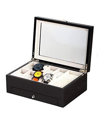 Rothenschild Uhren- & Schmuckbox RS-2271-GI für 8 Uhren Ginko