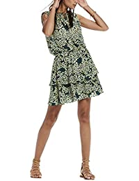 Scotch & Soda Maison Silky Feel Sleeveless Printed Summer Dress with Double Layer, Robe Femme