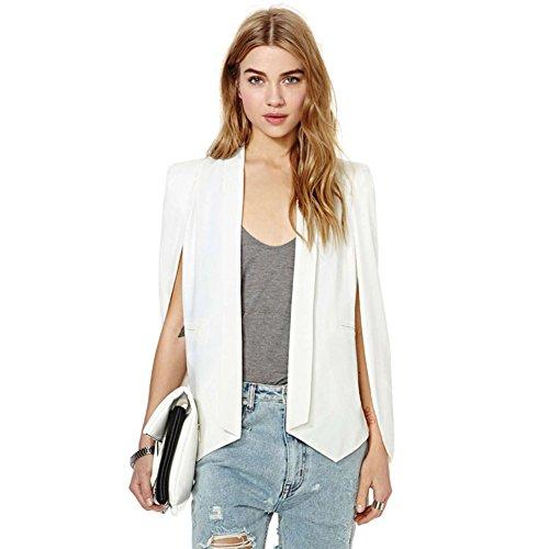 Yalatan Fashion Women Long Sleeve Lapel Cape Poncho OL Jacket Cloak Coat Blazer Suit