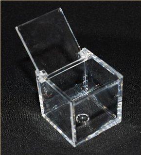 50 scatole cubo plexiglass 5x5x5 cm trasparente x confetti