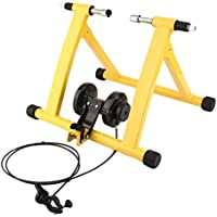 TataYang Heavy Duty Turbo Trainer Magnético Interior Bicicleta Entrenador Variable Resistencia Bicicleta Trainer (Amarillo)
