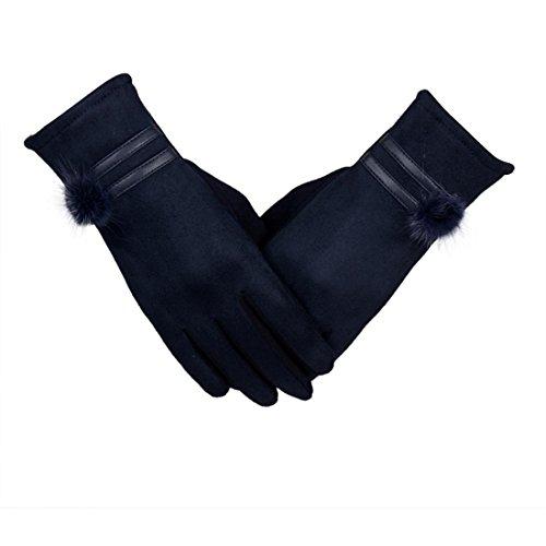 Btruely Damen Handschuhe Frauen Winter Warm Fäustlinge Weich Handgelenk Handschuhe Fingerhandschuhe (Eine Größe, (Spitzen Handgelenk Länge Handschuhe)