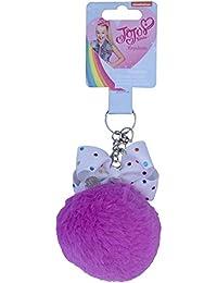 303fcc47dde9 JoJo Siwa Rhinestone Bow Pom Pom Keychain Girls  Pompom Keyring Accessory