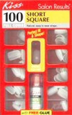Kiss Full Cover Active Oval Nails, Medium Size - 100 Count, 2 Ea/pack by Kiss