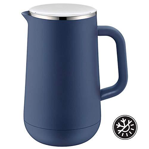WMF-Jarra térmica (Impulse Prussian Blue té café 1,0l, Altura 23,4cm Vidrio Rosca 24h fría & Caliente Regalo