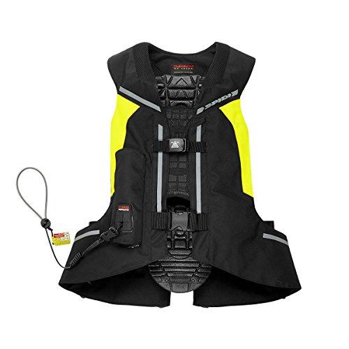 Weste MOTO mit Airbag Spidi Full DPS Vest Schwarz-Gelb Fluo TG. XL