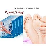 LCLrute 7Pair / 1Box Peeling Socken Fußpeeling Maske, Nahrhafte Fußmaske, Hornhautsocke, Tote Haut Entfernen von Füße, Fußhaut Weichen Zart Wie Baby Hornhaut