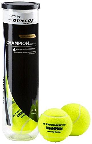 Tecnopro Uni Tennis-Ball Champion Allcourt 4er Tennisbälle, Gelb, One Size (Pro Adidas Tennis)