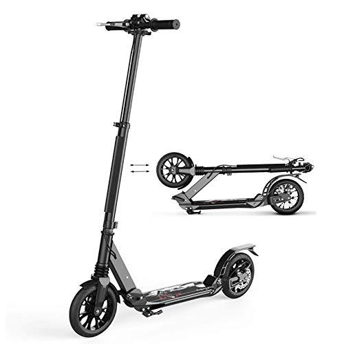 SED Kindertretroller Travelling Scooters Kick One-Click Folding - Nicht-Elektrisch Für Erwachsene Teens, Big Wheel Commuter Mit Scheibenbremsen, Höhenverstellbar Outdoor Sports Mini Balance Car Toy