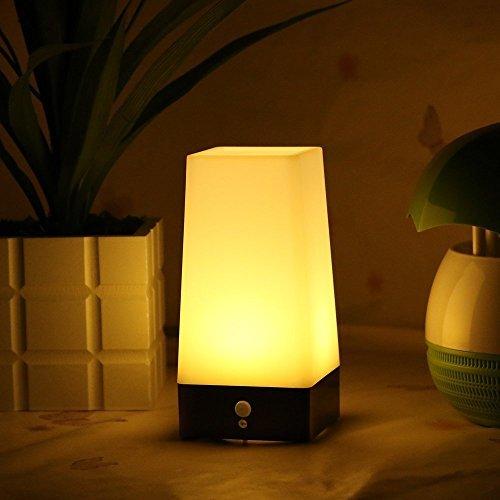 oyxled Retro LED Nacht Licht Wireless PIR Motion Sensor Licht, aktiviert Schritt Beleuchtung, Innen/Outdoor batteriebetrieben Lichtempfindliche tragbar beweglichen Tischlampe für Kinderzimmer, Flur (Runde Form) (Outdoor-pir-licht)
