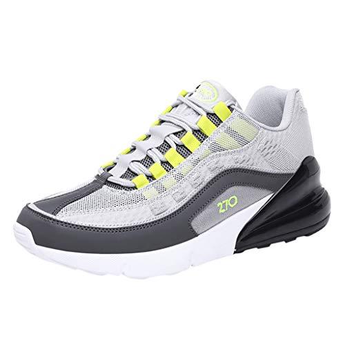 Herren Turnschuhe Leichte Laufschuhe Mode Wanderschuhe Atmungsaktive Mesh-Turnschuhe Stoßdämpfende Sportschuhe UK Größe 6-9,5