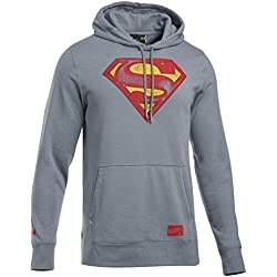 Under Armour Retro Superman Tribl Hoody Sudadera, Hombre, Gris (Steel), M