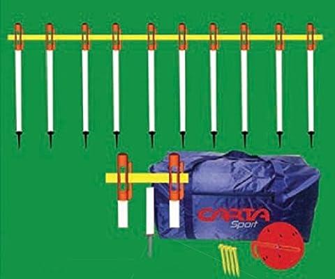 CARTA SPORT Football Rugby Clôture pratique Touchline Barrière 75cm haute