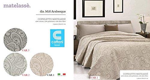 Couvre-lit pour lit 2 personnes - Tissu Matelassé - 3 variantes - taille 260X270 cm Var.3 Couleur blanche et noire
