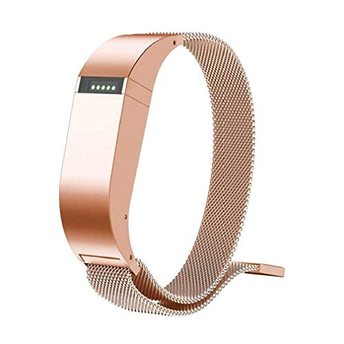 Cinturino alla moda, Fittingran Fitbit Flex cinturino di ricambio, regolabile milanese loop magnetico in acciaio inox Smart Watch Band per Fitbit Flex Fitness Watch (Oro rosa)