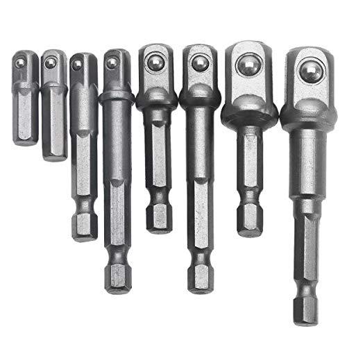 8 Pzas Adaptador de puntas de impacto con vástago hexagonal para puntas de taladro conjunto de puntas...