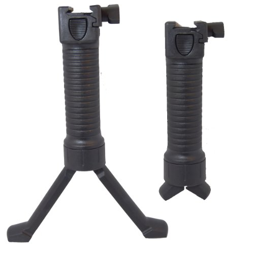 AIRSOFT COBRA QR FRONT EXTENDABLE BI-POD GRIP FRONT GRIP M4 G36 MP5 (Airsoft-rail-system-tan)