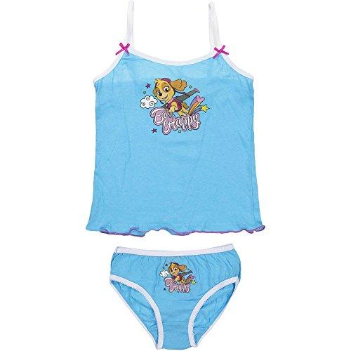 4787 Kinder Mädchen Unterwäsche PAW PATROL SKYE 2-teilig Hemd u. Schlüpfer (blau, 116-128) (2-teiliges Mädchen Unterwäsche-set)