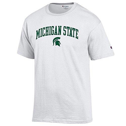 Michigan Board (eLITe NCAA Herren Kurzarm-T-Shirt, Weiß, Herren, Short Sleeve T Shirt White Arch, Michigan State Spartans White, XX-Large)