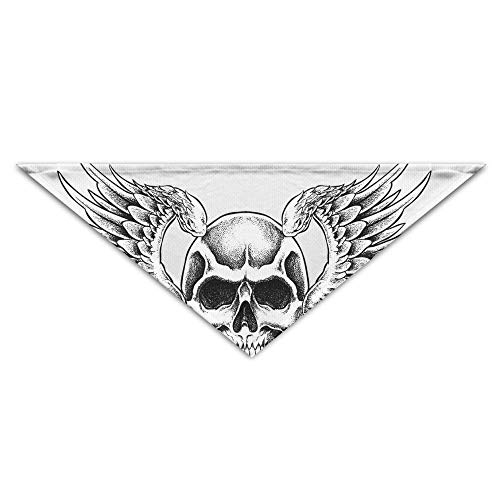 dfegyfr Human Skull Symbolism Drawing Triangle Pet Scarf Dog Bandana Pet Collars for Dog Cat - - Human Pet Kostüm
