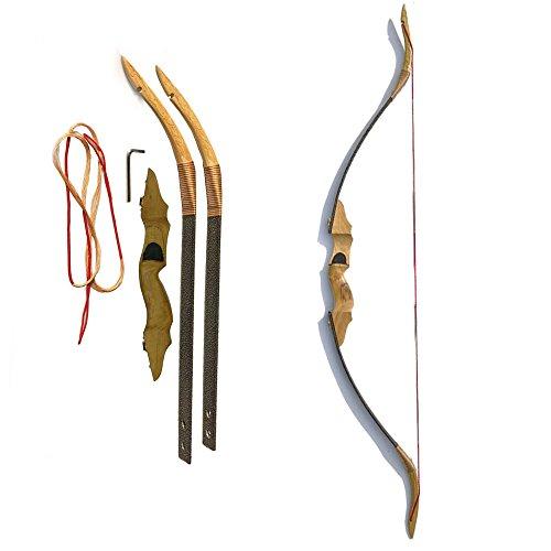 longbowmaker Traditioneller Ungarischer Stil Bogenschie/ßen Handgefertigt Recurvebogen Langbogen 20lbs bis 100lbs