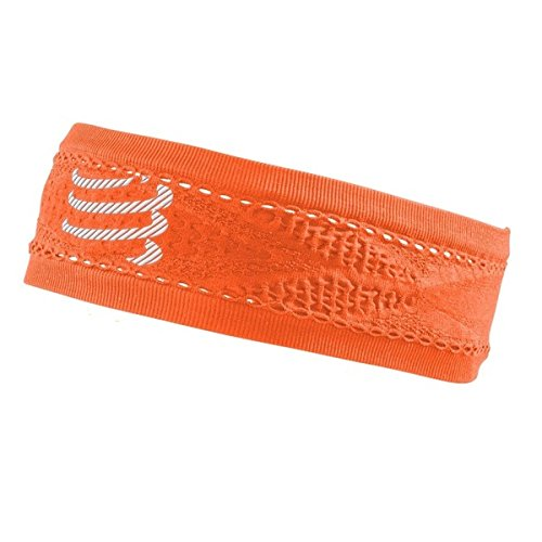 Compressport Thin Headband On/Off Cinta, Naranja Flúor, Talla Única