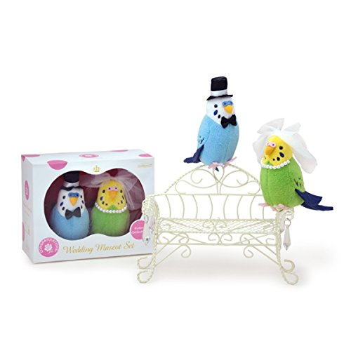 suave-y-downy-pares-de-la-boda-tipo-clip-bird-pajaro-collection-series-periquitos-azul-y-verde