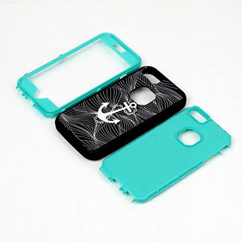 iPhone 6 Plus Fall, Sonder Lantier Anker-Muster-3 in 1 Hybrid Shockproof Silikon-Kunststoff-Schutzschicht Hard Case (5,5 Zoll) für iPhone 6 / 6S Plus-Pink Featured Anchor Pattern Blue