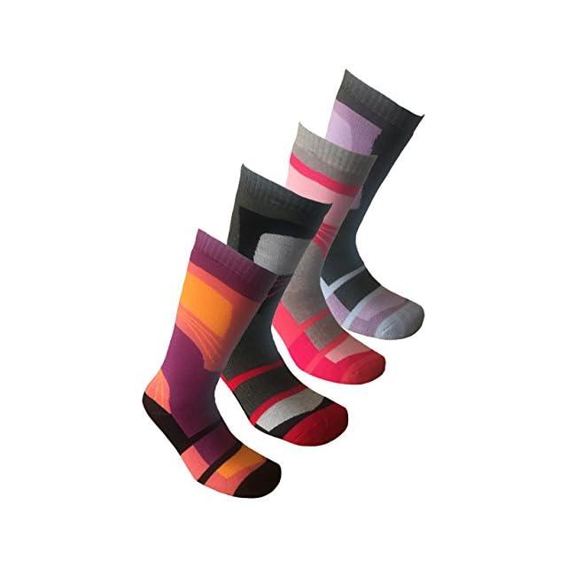 f75d6b4459814 ... i-Smalls Chaussettes de Ski Lot de 4 Long Thermique Haute Performance  Femme