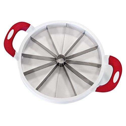 Top vente ku6145 - taglia-cocomero o melone, in acciaio inox, 37,7 x 28 x 6,7 cm, colore: bianco/rosso