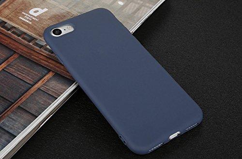Incendemme Handyhülle für iPhone 6 Plus/ 6s Plus weiche Dünn Mattglasbirne Schutzschale für iPhone mit Einfarbig Design Handytasche aus TPU Handy Hülle Etui cover case (Schwarz) Dunkel Blau