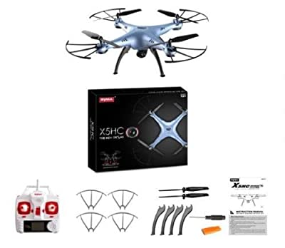 Syma X5hc 6 Axis 4ch Quadcopter Drone 2.0mp Hd Camera Rc Fpv 2.4ghz Rtf Headless - The Perfect Gift For Your Children.