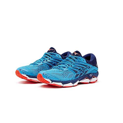Mizuno Damen Wave Horizon 2 Sneakers Mehrfarbig (Hocean/Eblue/Fcoral 001) 42 EU