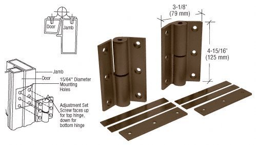 Crl Duranodic Bronze-finish (CRL Duranodic Bronze Finish Universal Storefront Door Hinges - Set by C.R. Laurence)