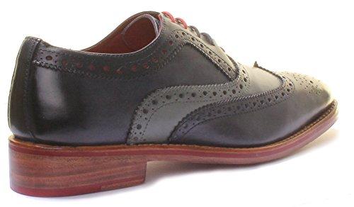 Justin Reece  Connor, Chaussures de ville à lacets pour homme Navy Gray A