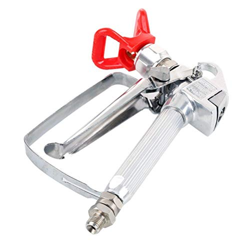 UKCOCO Pistola de pulverización de pintura sin aire de alta presión Sin pulverización de gas con junta giratoria de protección de punta Ideal para pulverizar imprimadores Barnices y látex