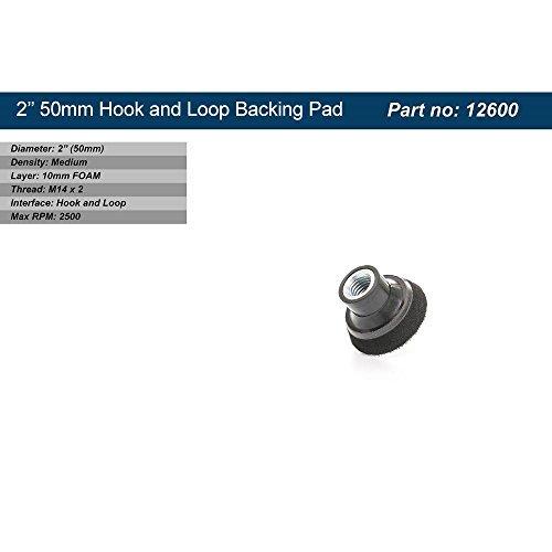 Preisvergleich Produktbild Glass Polish 5,1cm (50mm) Klettverschluss Stützteller M14x 2Gewinde, (10mm Schaum Layer) mittlere Dichte Haken und Loop Polieren Pad, Schleifen Pad