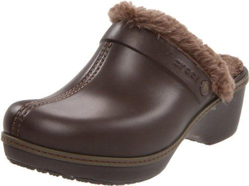 Crocs Crocs Cobbler Lined Clog W Damen Pumps CR.11552, Marron (Espresso/Walnut), 36/37
