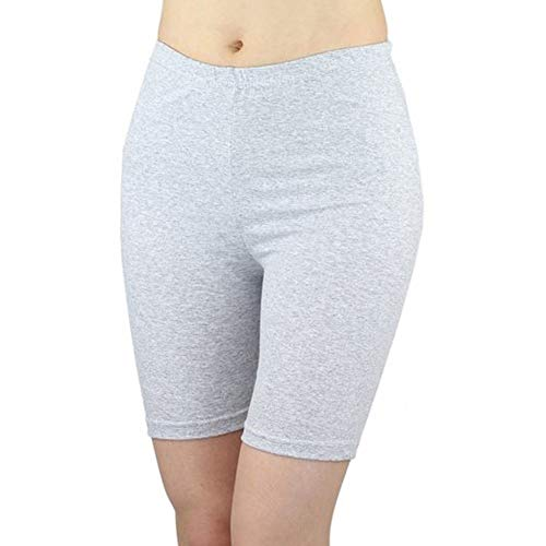 LADIES STRETCHY COTTON LYCRA ABOVE KNEE SHORTS ACTIVE LEGGING (SMALL, GREY) (Womens Small Shorts Running)