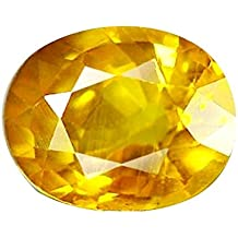 S Kumar Gems & Jewels 4.25 Ratti Yellow Sapphire-Pukhraj Stone for Men and Women