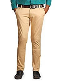 Denim Vistara Men's Slim Fit BrownTrouser