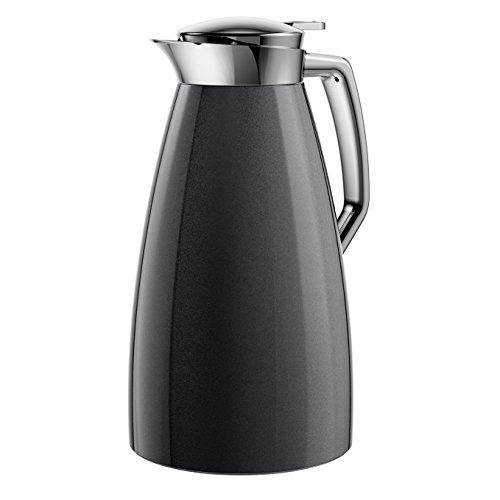 Emsa 514188 Isolierkanne, 1 Liter, Aroma Diamond, Quick Tip Verschluss, 100% dicht, Carbon, Plaza