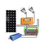 YAMEIJIA 18V 100w système Solaire système photovoltaïque Centrale système système pour 12V Panneau Solaire Batteries Chargeur Ensemble Solaire kit Ensemble avec câble...