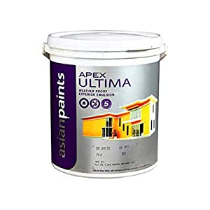 Asian Paints Ultima Weather Proof Exterior Emulsion 10 Ltr White Amazon In Home Kitchen
