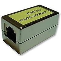 Cat5 schermato connettore modulare / RJ45 modulare Inline Accoppiatore / Cat5-Cat6 / Ethernet via cavo Extender / femmina a femmina / Argento