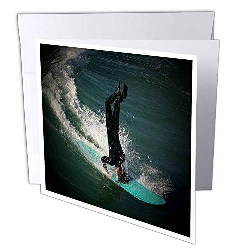 3D Rose GC 26244 Huntington Beach 2 Headstand Surfen - Grußkarten, 15,2 x 15,2 cm Set von 12 - Huntington Rose