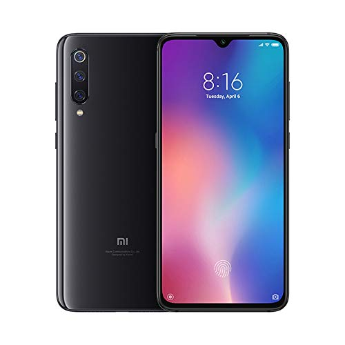 "Xiaomi Mi 9 – Smartphone de AMOLED de 6,39"" (4G, Octa Core Qualcomm SD 855 2.8 GHz, RAM de 6 GB, remembranza de 64 GB, alcoba triple de 48 + 16 + 12 MP, Android) coloración oscurecido piano [Versión española]"