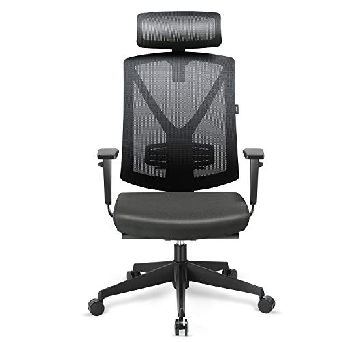 INTEY Chaise de Bureau Siège Ergonomique Quadruple...