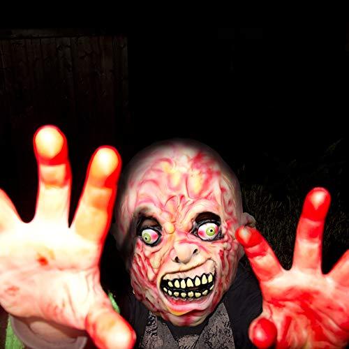 (AivaToba Neuheit Latex Rubber Creepy Horror Kopf Masken Gesicht Schrecklich für Halloween Kostüm Party)